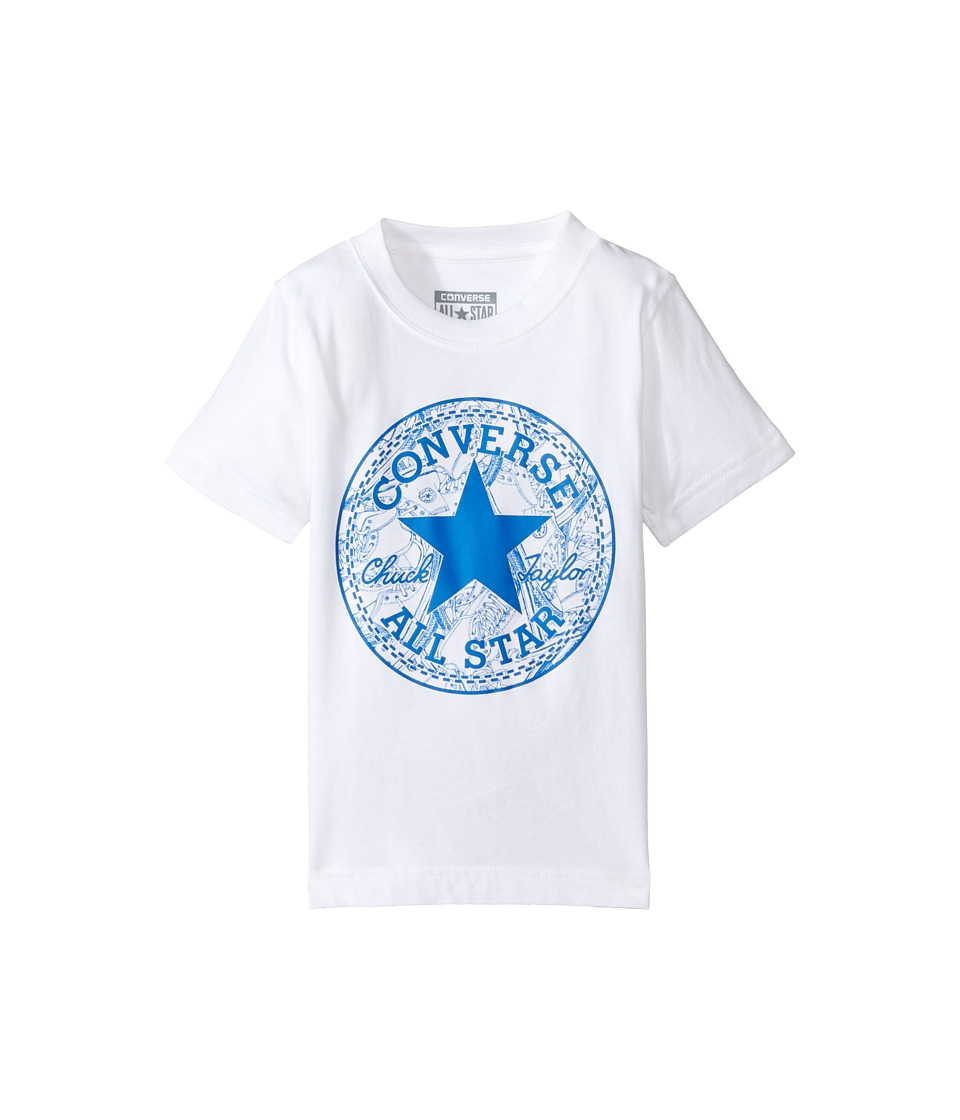 Converse Kids - Seasonal Chuck Fill Tee (Toddler/Little Kids) (White) Boy's T Shirt