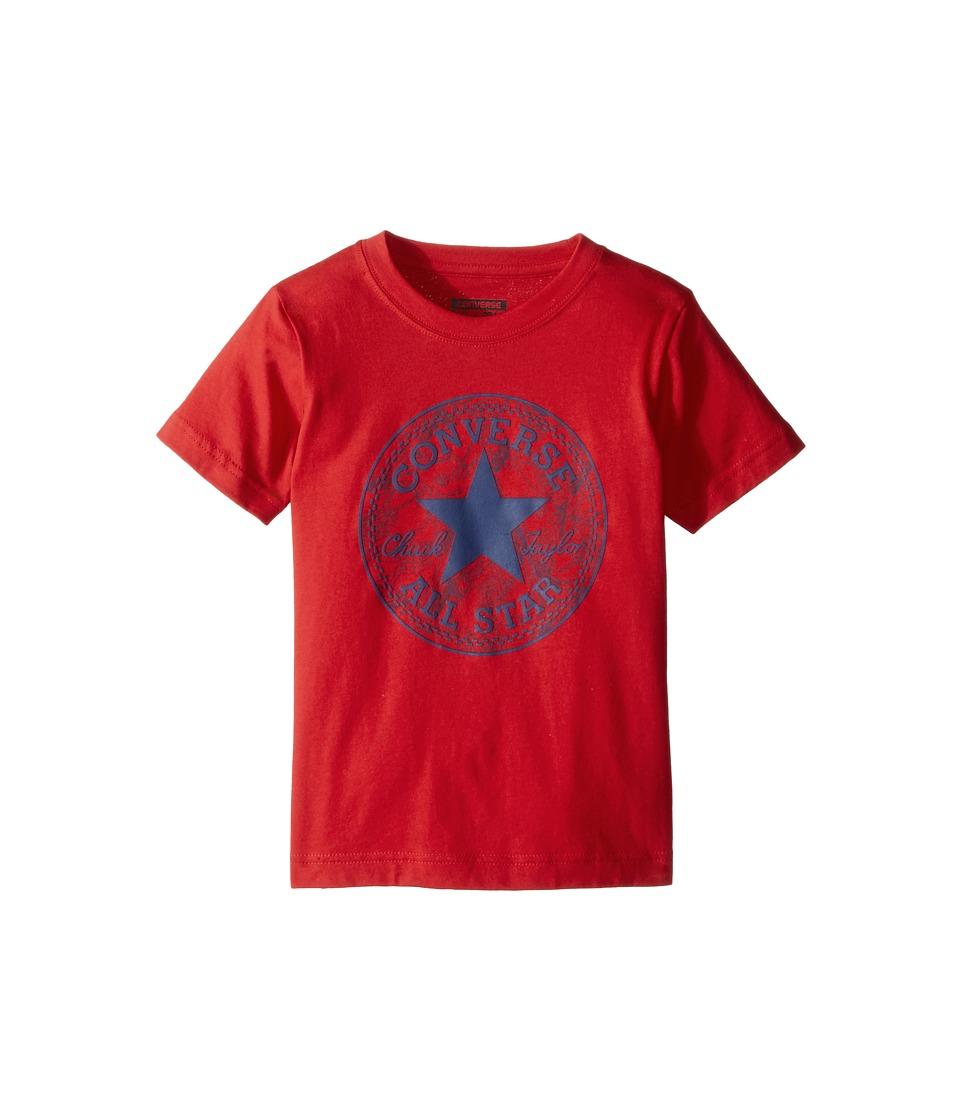 Converse Kids - Seasonal Chuck Fill Tee (Toddler/Little Kids) (Red) Boy's T Shirt