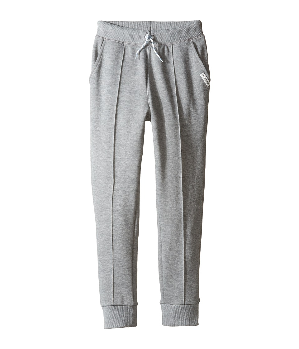 Converse Kids - Pintuck Jogger (Big Kids) (Dark Grey Heather) Boy's Casual Pants