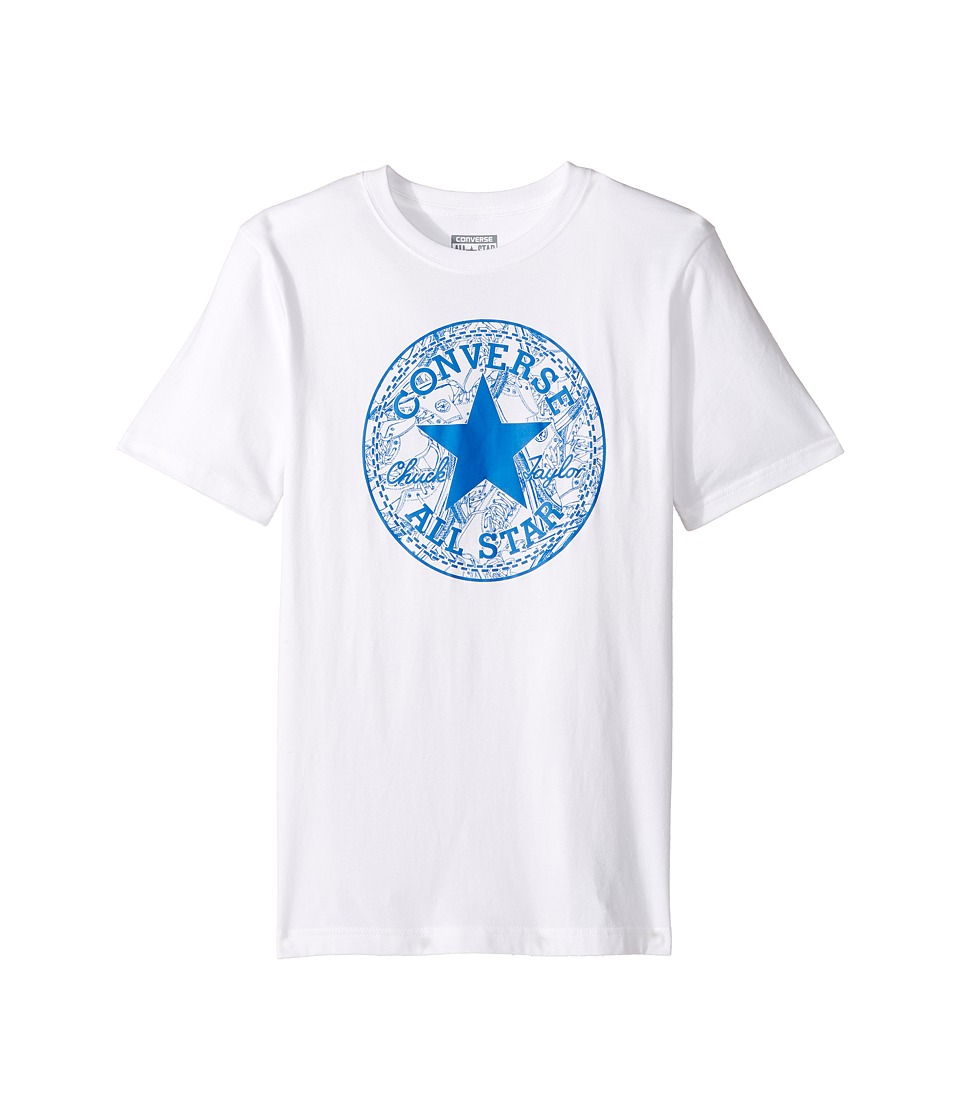 Converse Kids - Seasonal Chuck Fill Tee (Big Kids) (White) Boy's T Shirt
