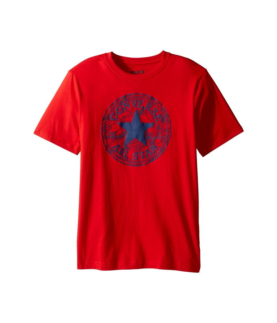 Converse Kids - Seasonal Chuck Fill Tee (Big Kids) (Red) Boy's T Shirt