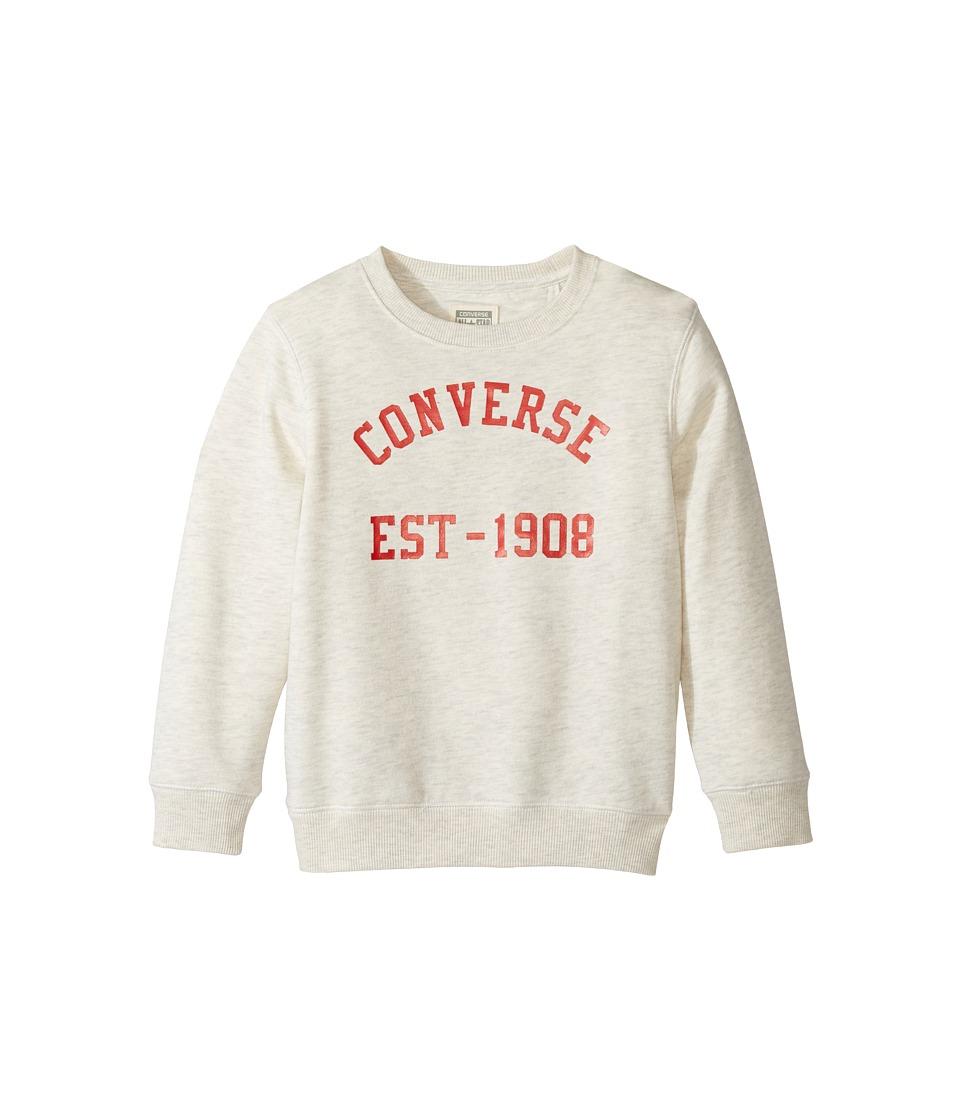 Converse Kids - Vintage Type Crew (Toddler/Little Kids) (Oatmeal Heather) Boy's T Shirt