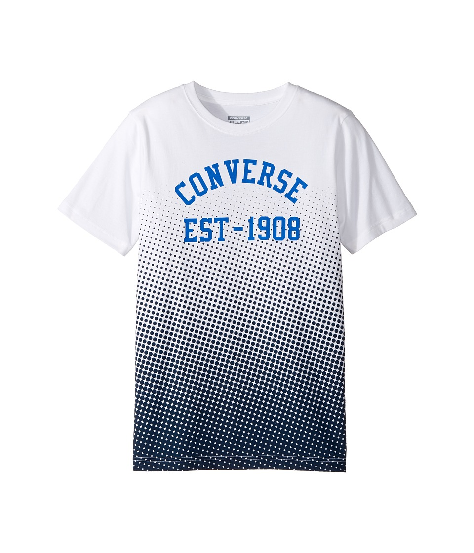 Converse Kids - Vintage Fade Tee (Big Kids) (White) Boy's T Shirt