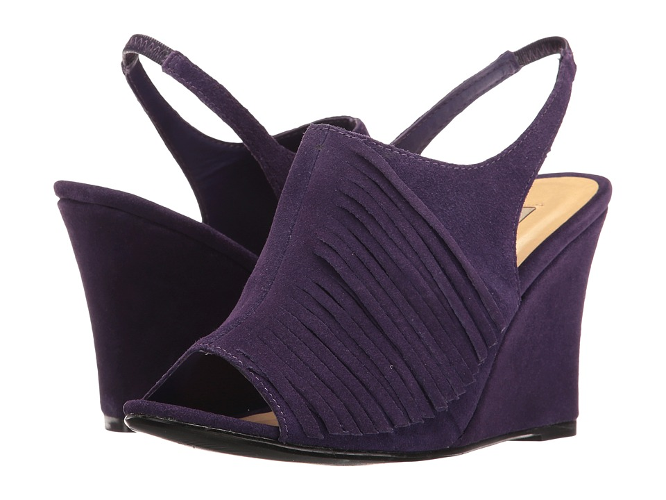 Chinese Laundry - Scout Suede (Royal Purple) Women's Wedge Shoes