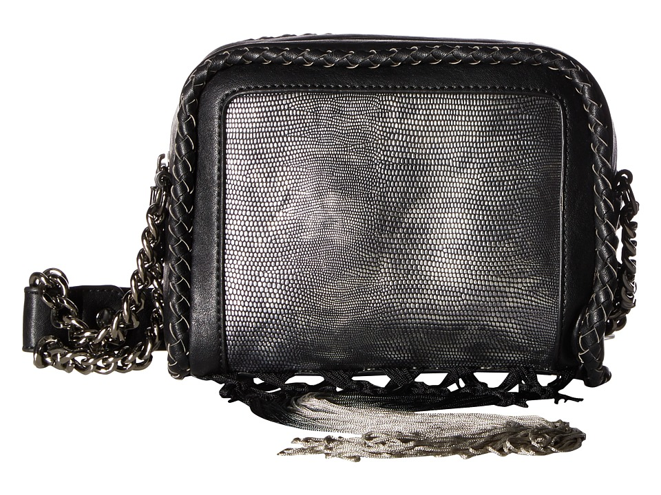 Circus by Sam Edelman - Alice Shoulder Bag (Black/Pewter/Fringe) Handbags