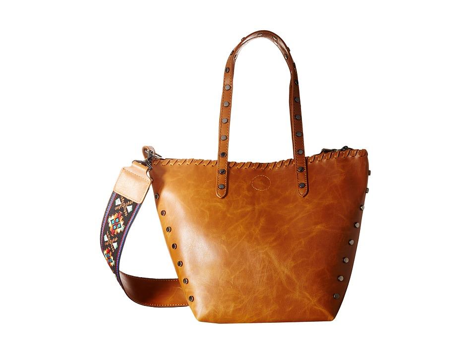 Circus by Sam Edelman - Lela Tote (Cognac/Cognac/Studs/Guitar Strap) Handbags