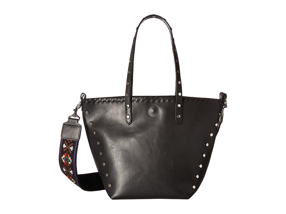 Circus by Sam Edelman - Lela Tote (Black/Black/Studs/Guitar Strap) Handbags