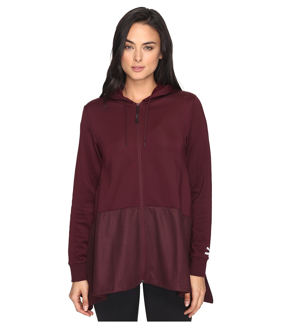 PUMA - Evo Drapy Full Zip Hoodie (Winetasting/Copper) Women's Sweatshirt