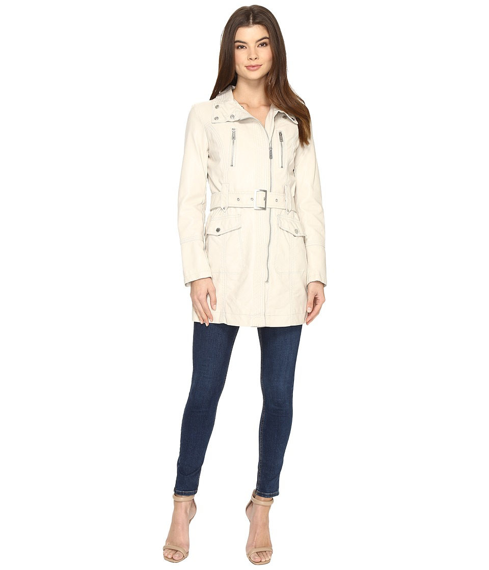 Kenneth Cole New York - Belted City Coat (Ivory) Women's Coat