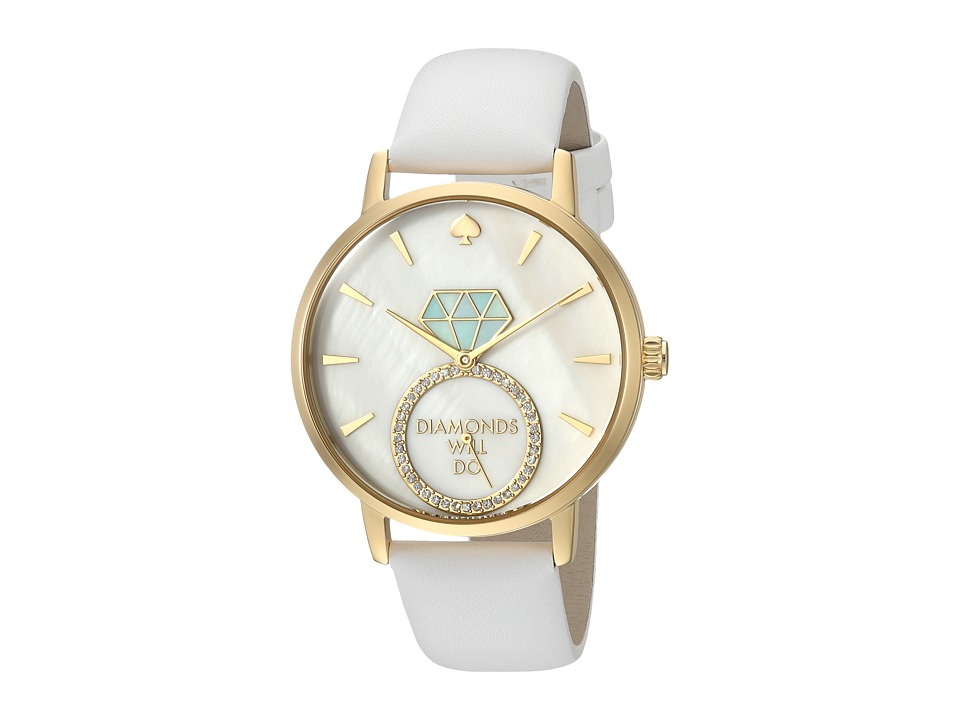 Kate Spade New York - Diamonds Will Do Metro - KSW1317 (White) Watches