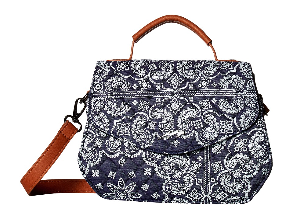 Circus by Sam Edelman - Kipp Crossbody (Bandana Blue/Cognac/Bolt Pin in Silver) Cross Body Handbags