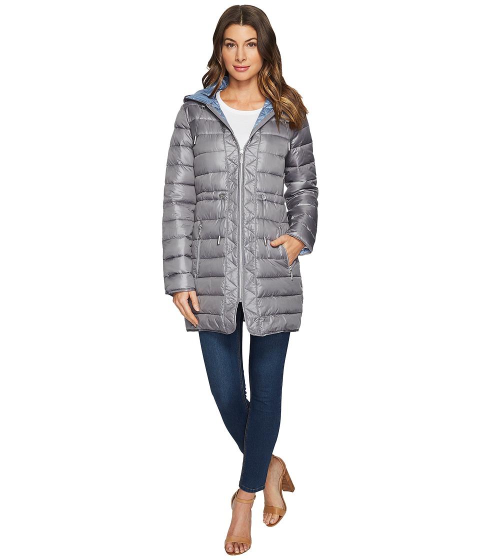 Kenneth Cole New York - Quilted Zip Coat (Nickel) Women's Coat
