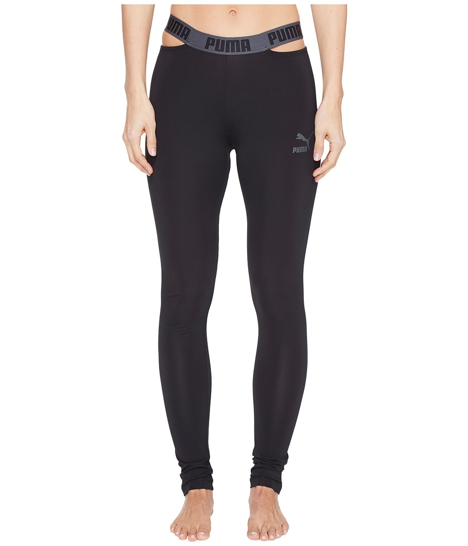 PUMA - Cut Out Leggings (PUMA Black) Women's Casual Pants