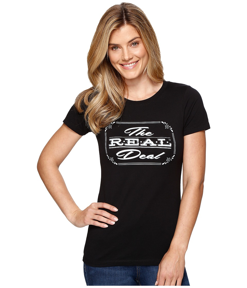 Ariat - The Real Deal Top (Black) Women's T Shirt