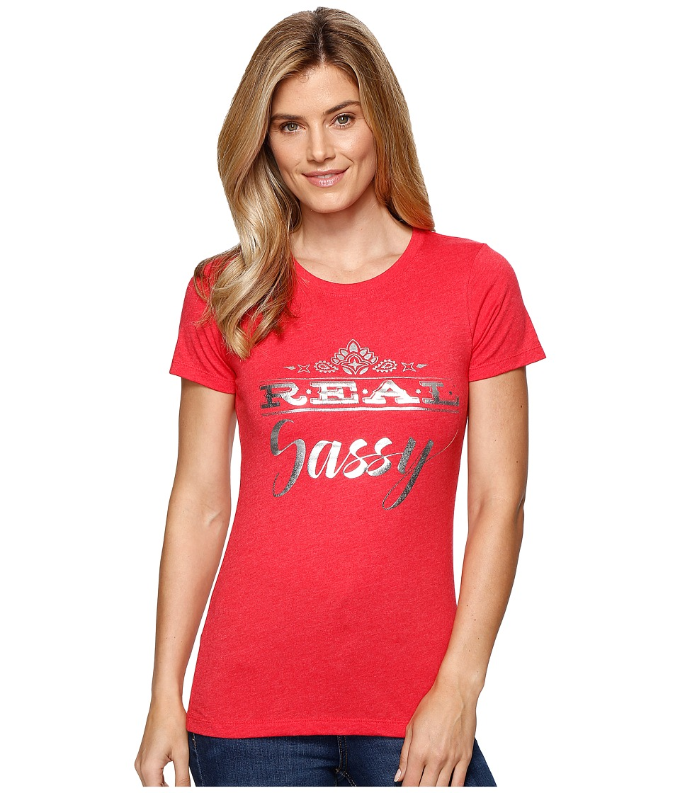 Ariat - Real Sassy Top (Red) Women's T Shirt