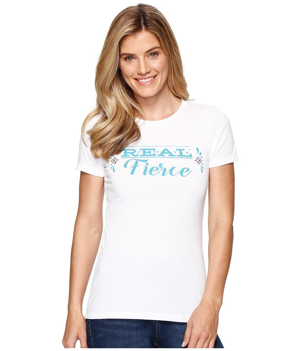 Ariat - Real Fierce Top (White) Women's T Shirt