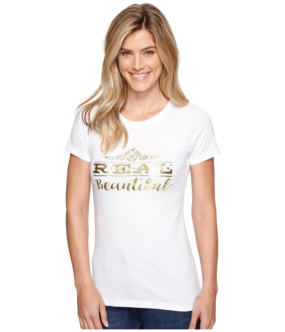 Ariat - Real Beautiful Top (White) Women's T Shirt