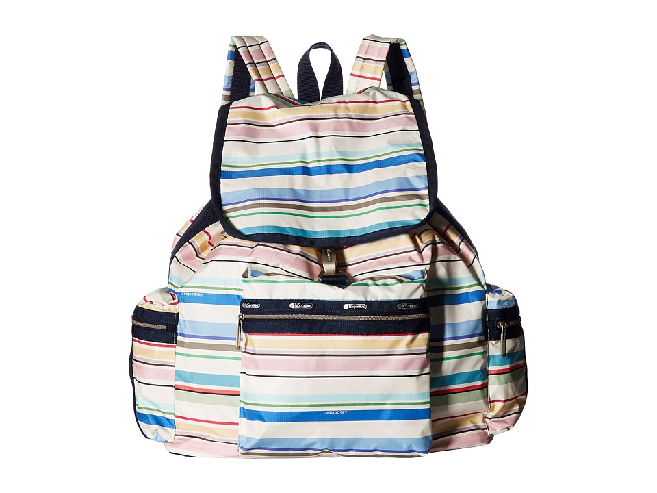 LeSportsac - 3 Zip Voyager (Blossom Stripe) Bags