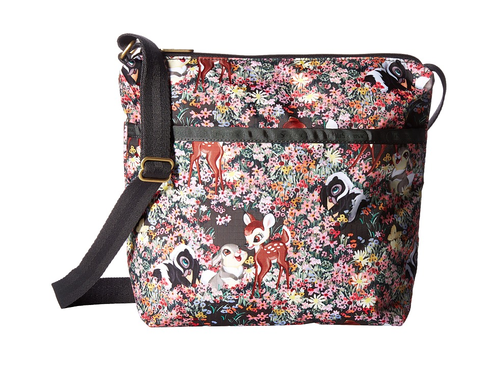 LeSportsac - Small Cleo Crossbody Hobo (Bambi and Friends) Cross Body Handbags