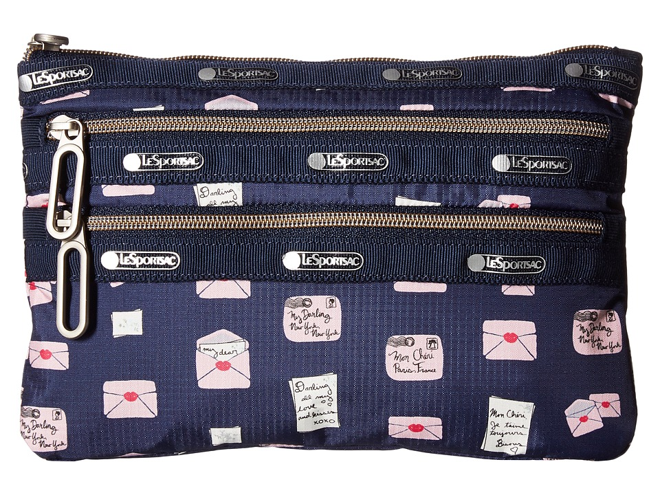 LeSportsac - Classic 3 Zip Pouch (Sealed Letters) Bags