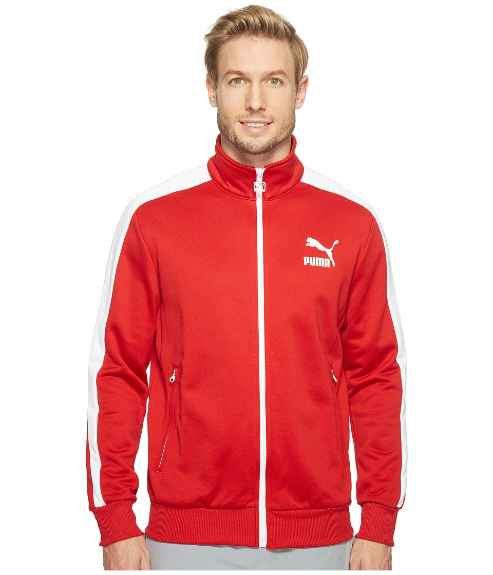 PUMA - Archive T7 Track Jacket (Barbados Cherry/Puma White) Men's Coat
