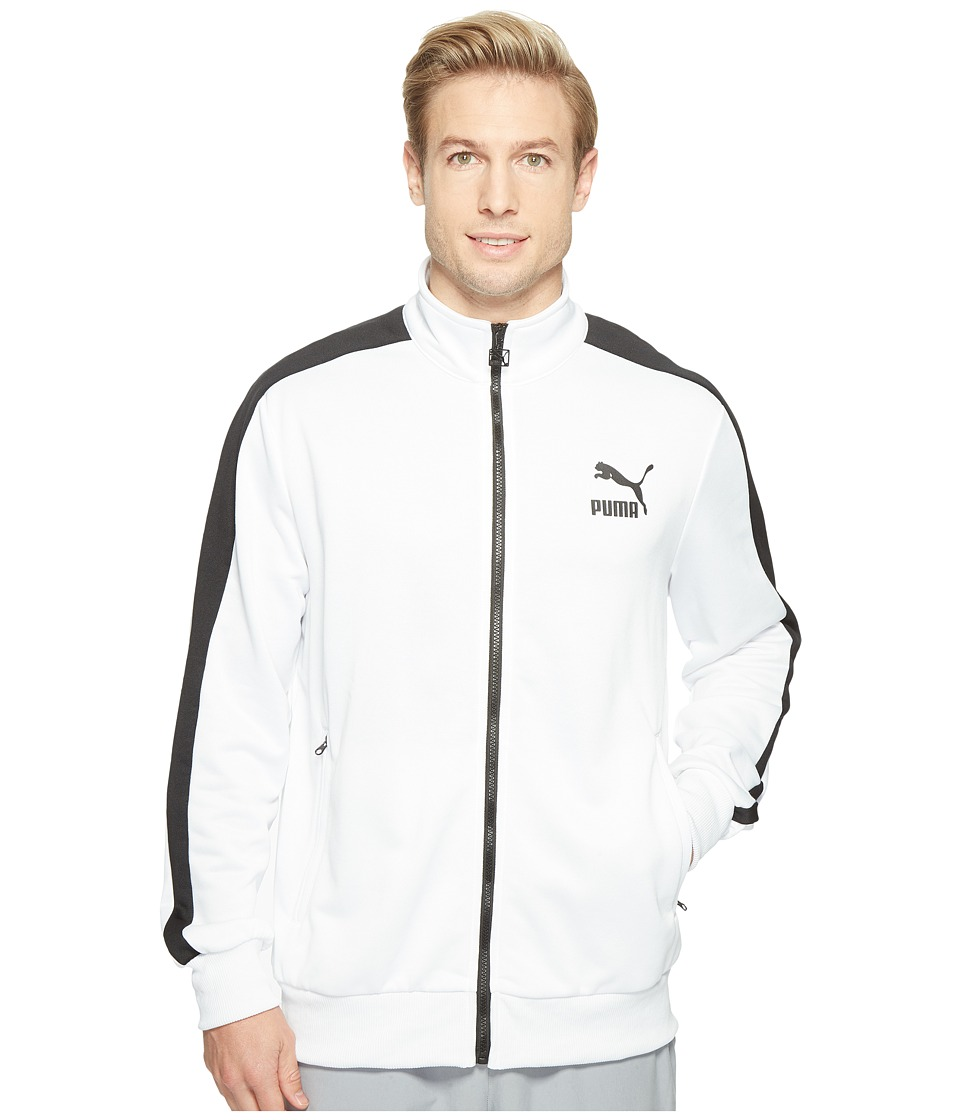 PUMA - Archive T7 Track Jacket (Puma White/Puma Black) Men's Coat