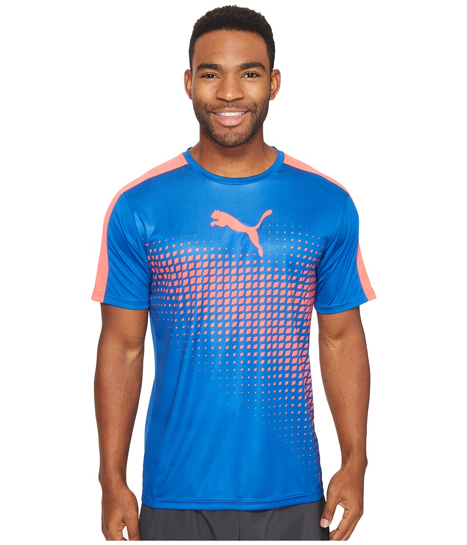 PUMA - IT Evotrg Graphic Tee (True Blue/Bright Plasma) Men's T Shirt
