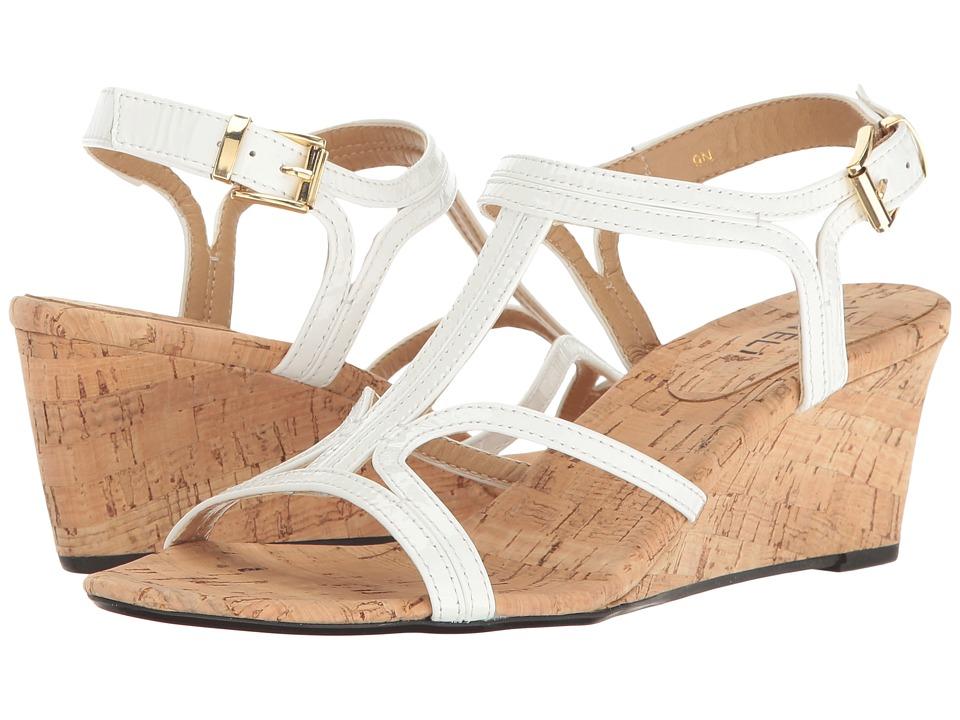 Vaneli - Merope (White Patent) Women's Wedge Shoes