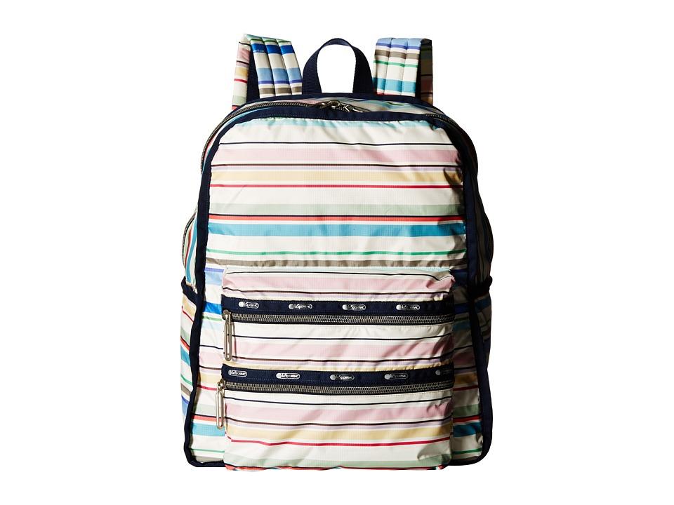 LeSportsac - Functional Backpack (Blossom Stripe) Backpack Bags