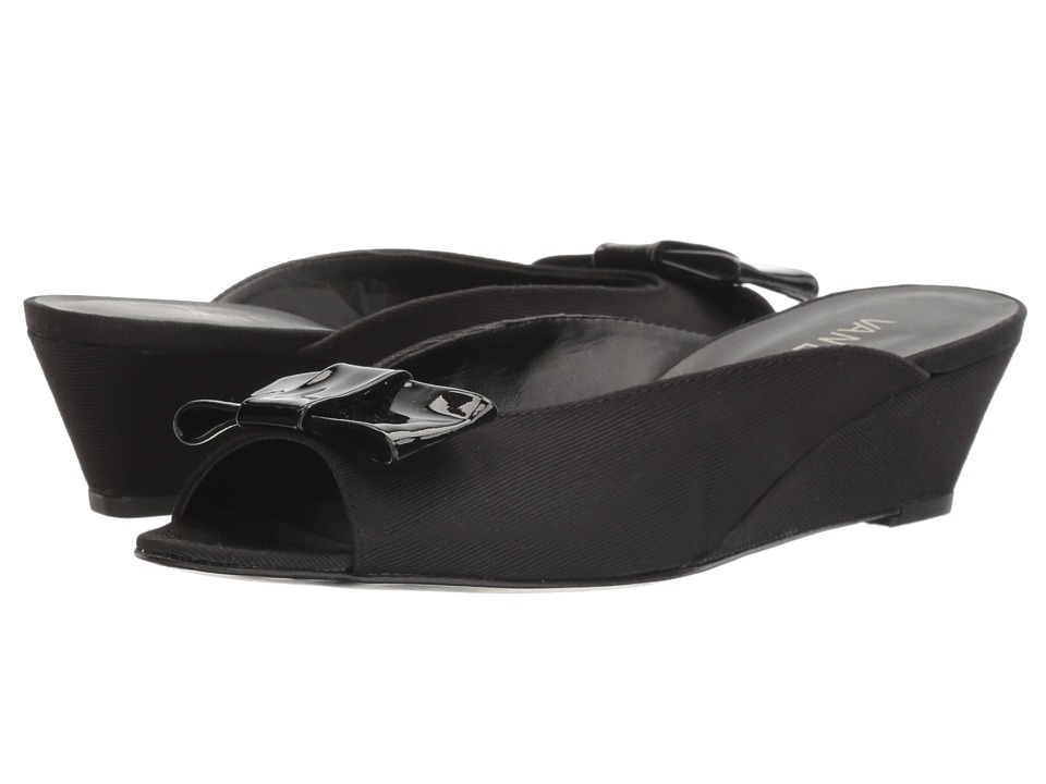 Vaneli Bligh (Black Grosgrain/Black Patent) Women