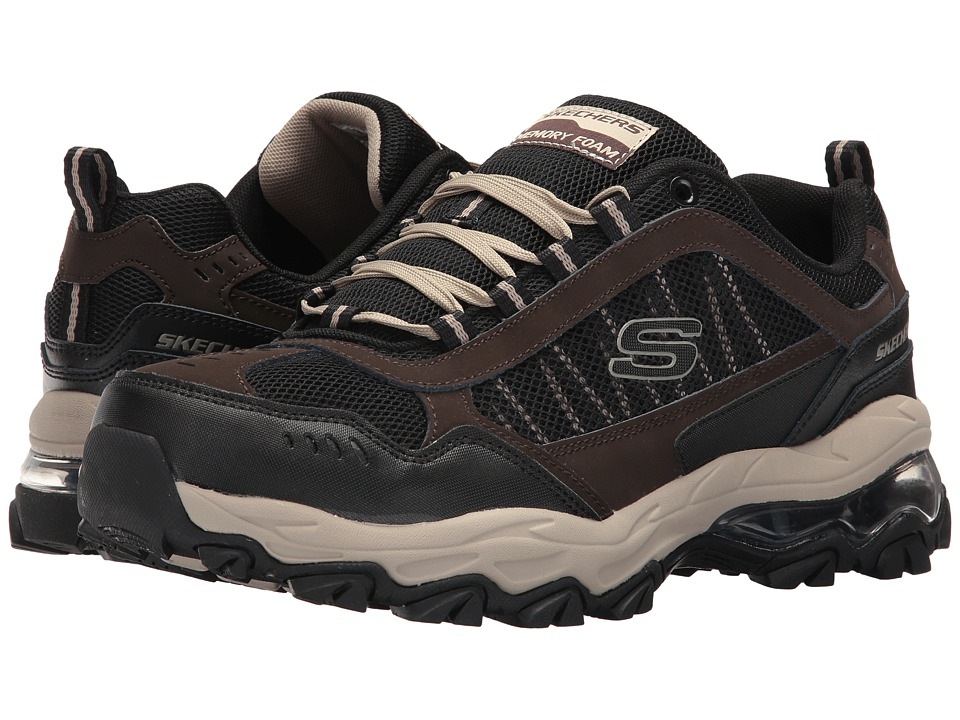 SKECHERS - M. Fit Air (Brown/Black) Men's Shoes
