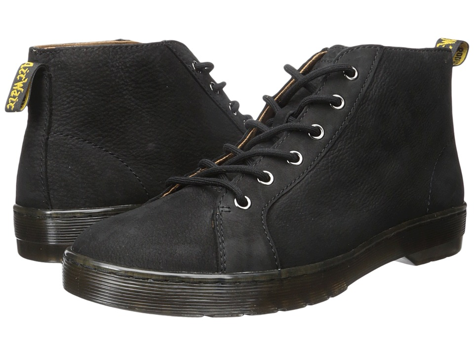 Dr. Martens Coburg 6-Eye Suede LTT Boot (Black Slippery Wp/Black Co Cotton Drill) Men
