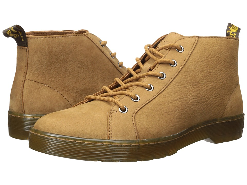 Dr. Martens Coburg 6-Eye Suede LTT Boot (Tan Slippery Wp/Tan Co Cotton Drill) Men