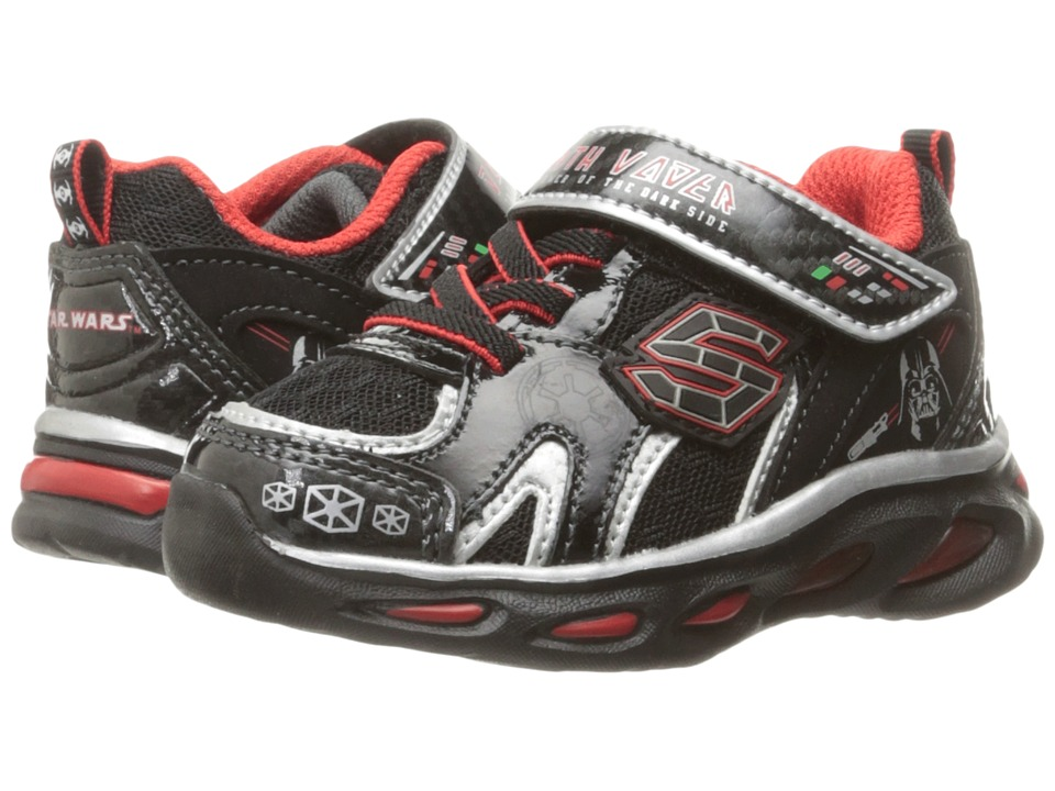 SKECHERS KIDS - Star Wars - Dynamo - Continuem (Toddler) (Black/Red) Boy's Shoes