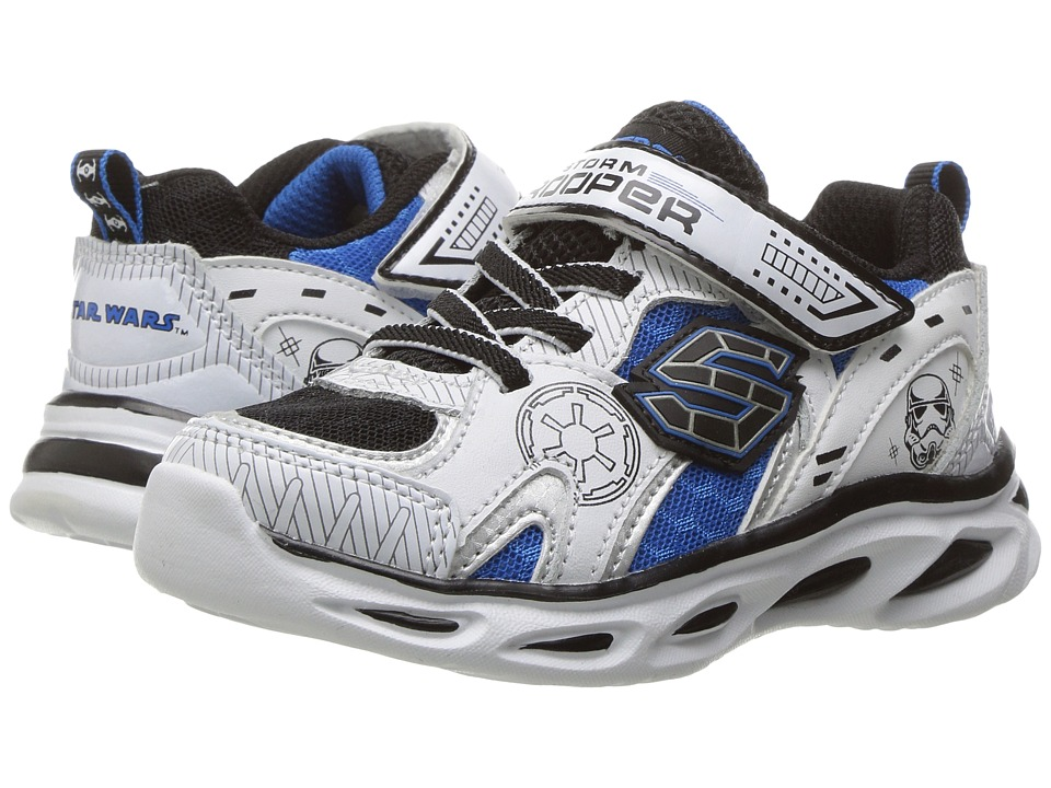 SKECHERS KIDS - Star Wars - Dynamo - Continuem (Toddler) (White/Black/Royal) Boy's Shoes
