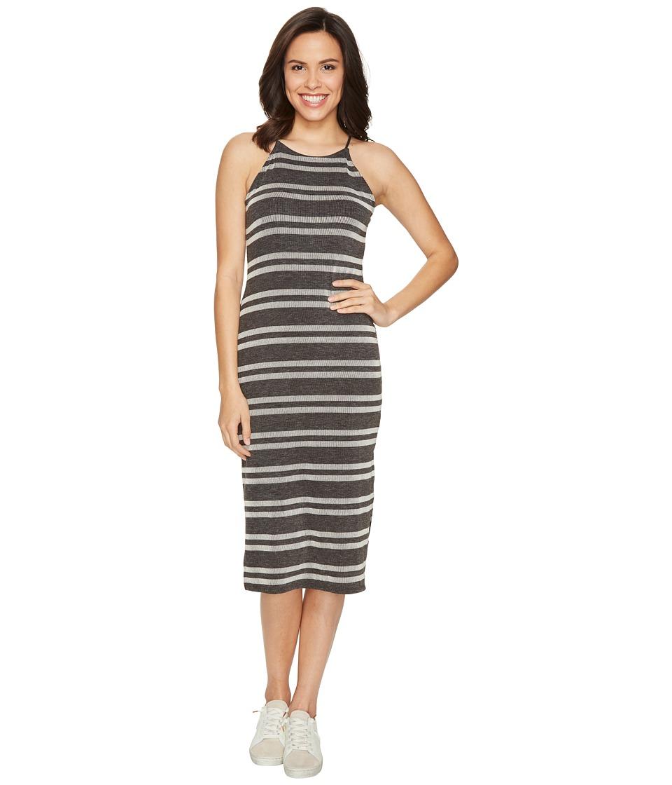 Culture Phit - Indra Spaghetti Strap Striped Dress (Charcoal) Women's Dress