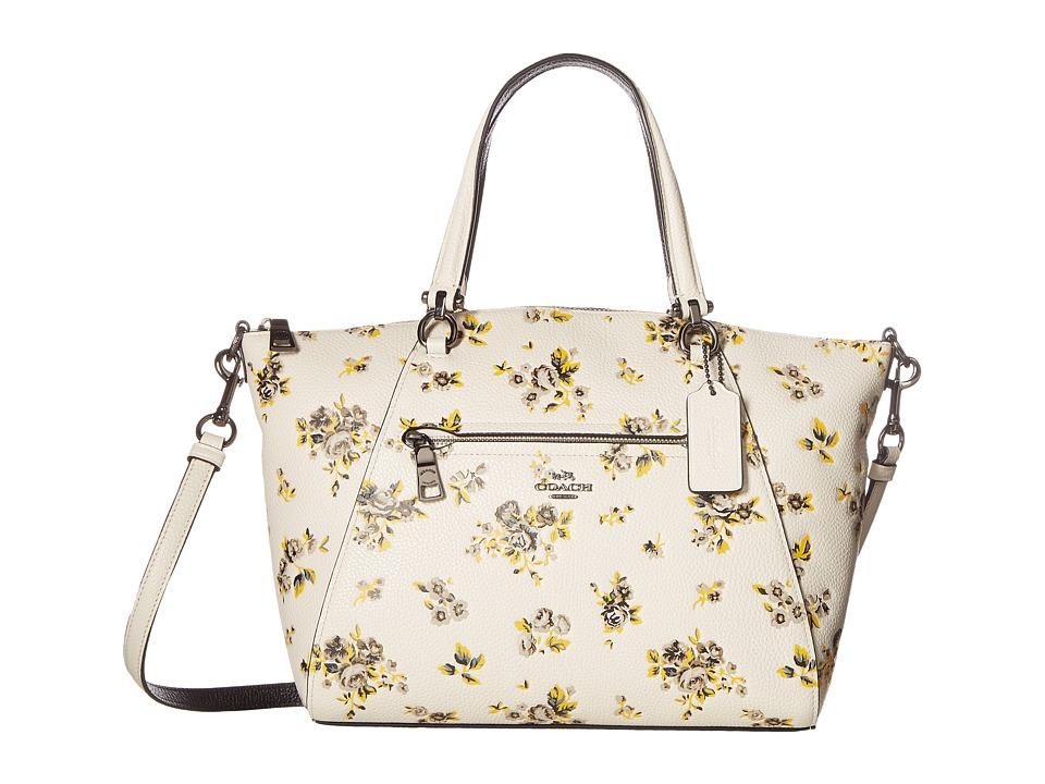 COACH - Prairie Print Prairie Satchel (Dk/Prairie Print Chalk) Satchel Handbags
