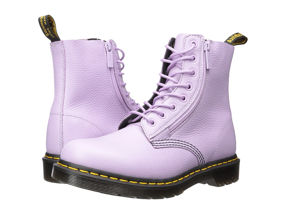 Dr. Martens - Pascal w/ Zip 8-Eye Boot (Orchid Purple Aunt Sally) Women's Boots