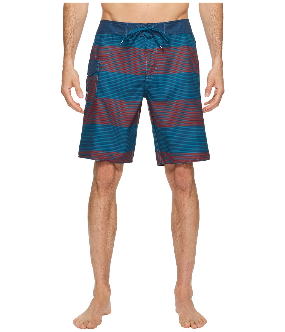 RVCA - Civil Stripe Trunk (Rosewood) Men's Swimwear