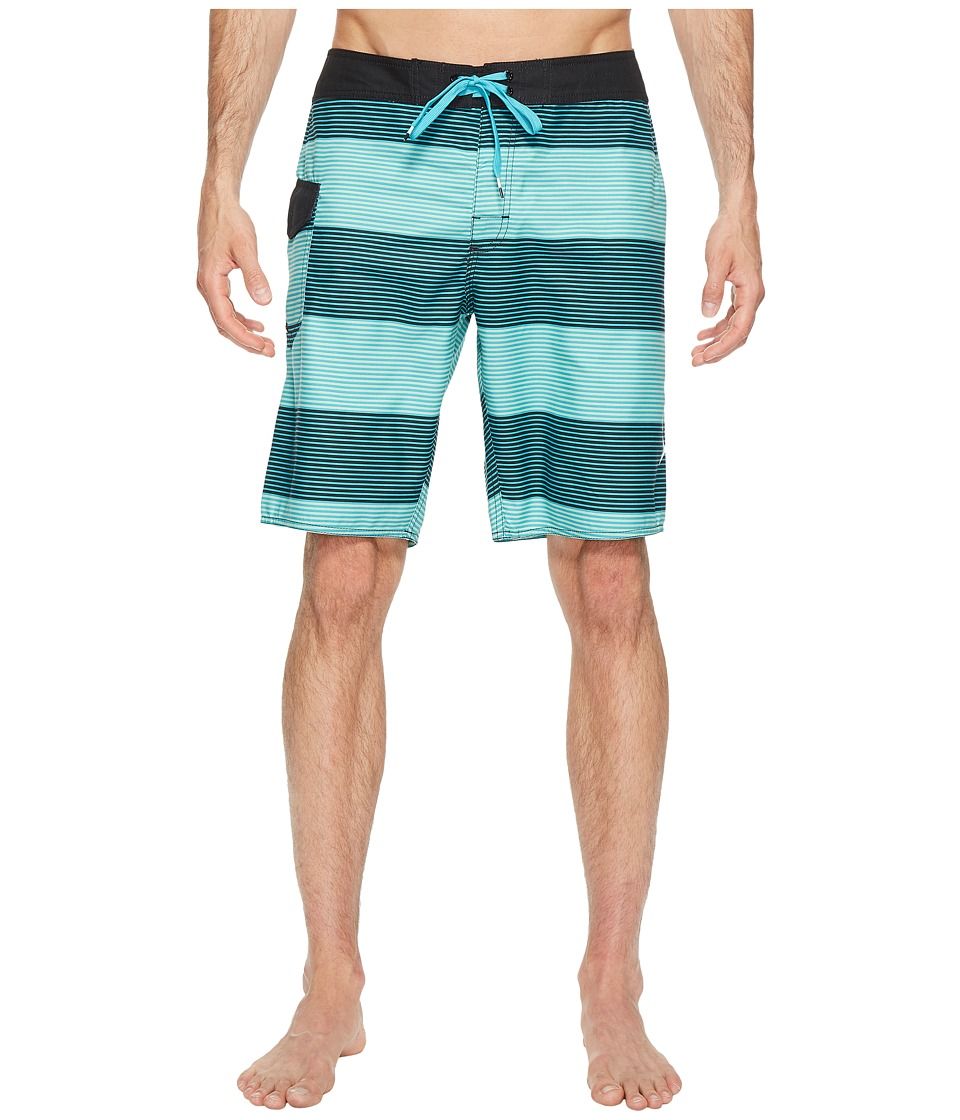 RVCA - Civil Stripe Trunk (Baltic) Men's Swimwear
