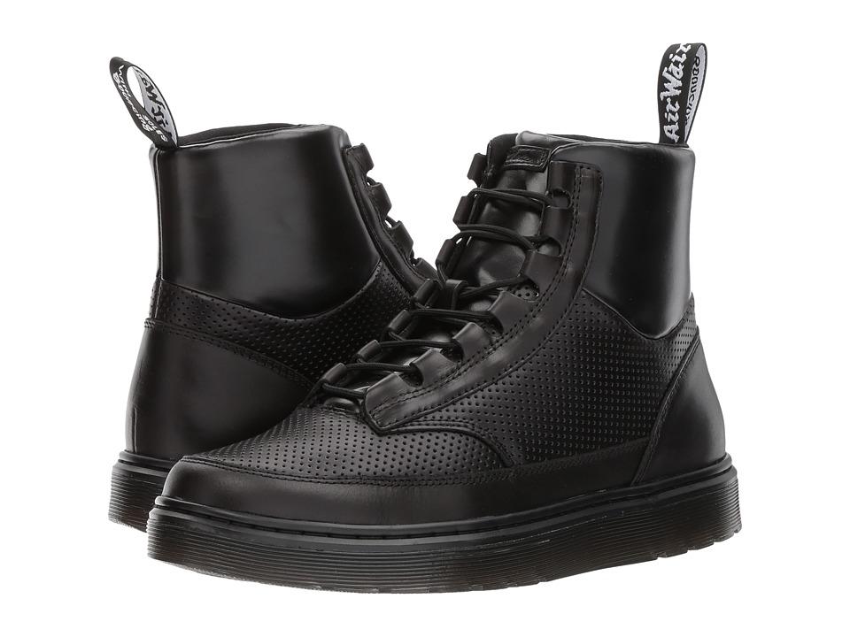 Dr. Martens Kamar Sneaker Boot (Black Brando/Black PU/Black Perf Brando) Men