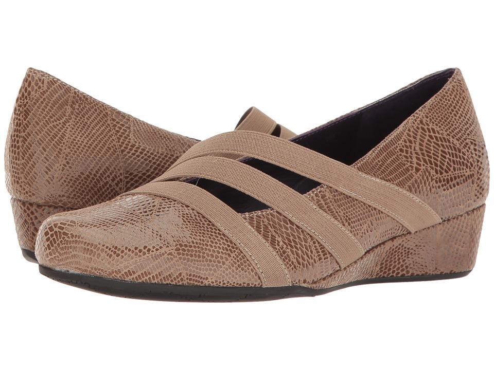 Vaneli - Moki (Taupe Patchwork Print) Women's Slide Shoes