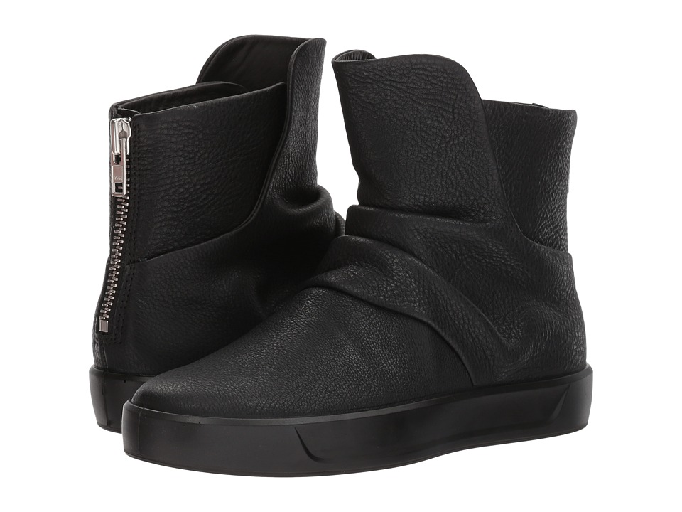 ECCO Soft 8 Slouch Boot (Black Cow Leather) Women