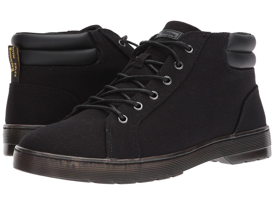 Dr. Martens Plaza 6-Eye LTT Boot (Black 14 Oz Canvas/Black PU Polyurethane) Men