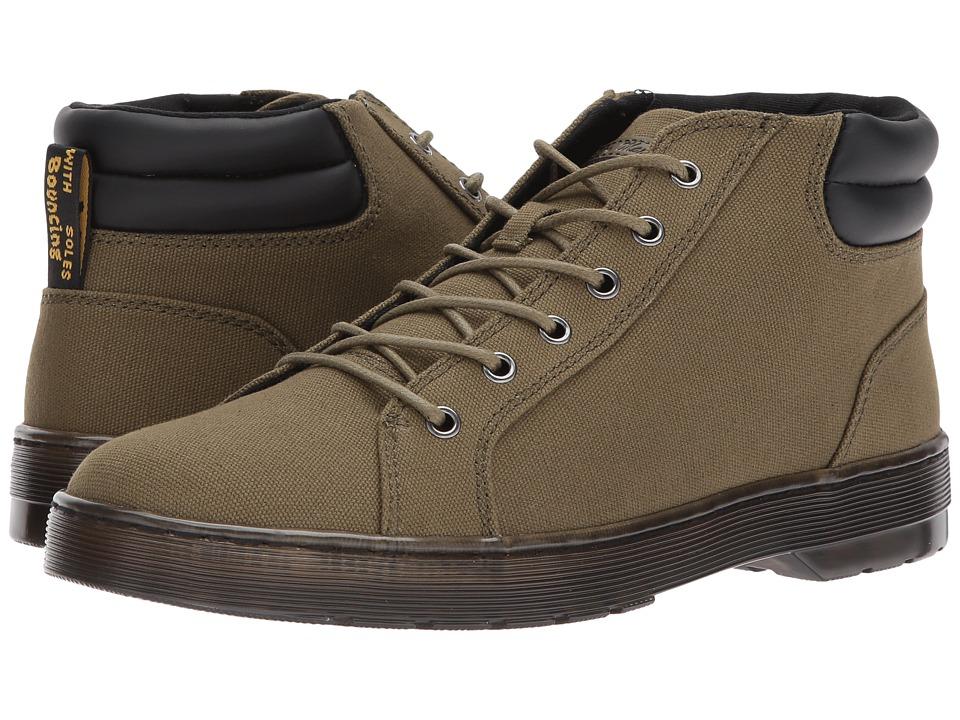 Dr. Martens Plaza 6-Eye LTT Boot (Mid Olive 14 Oz Canvas/Black PU Polyurethane) Men