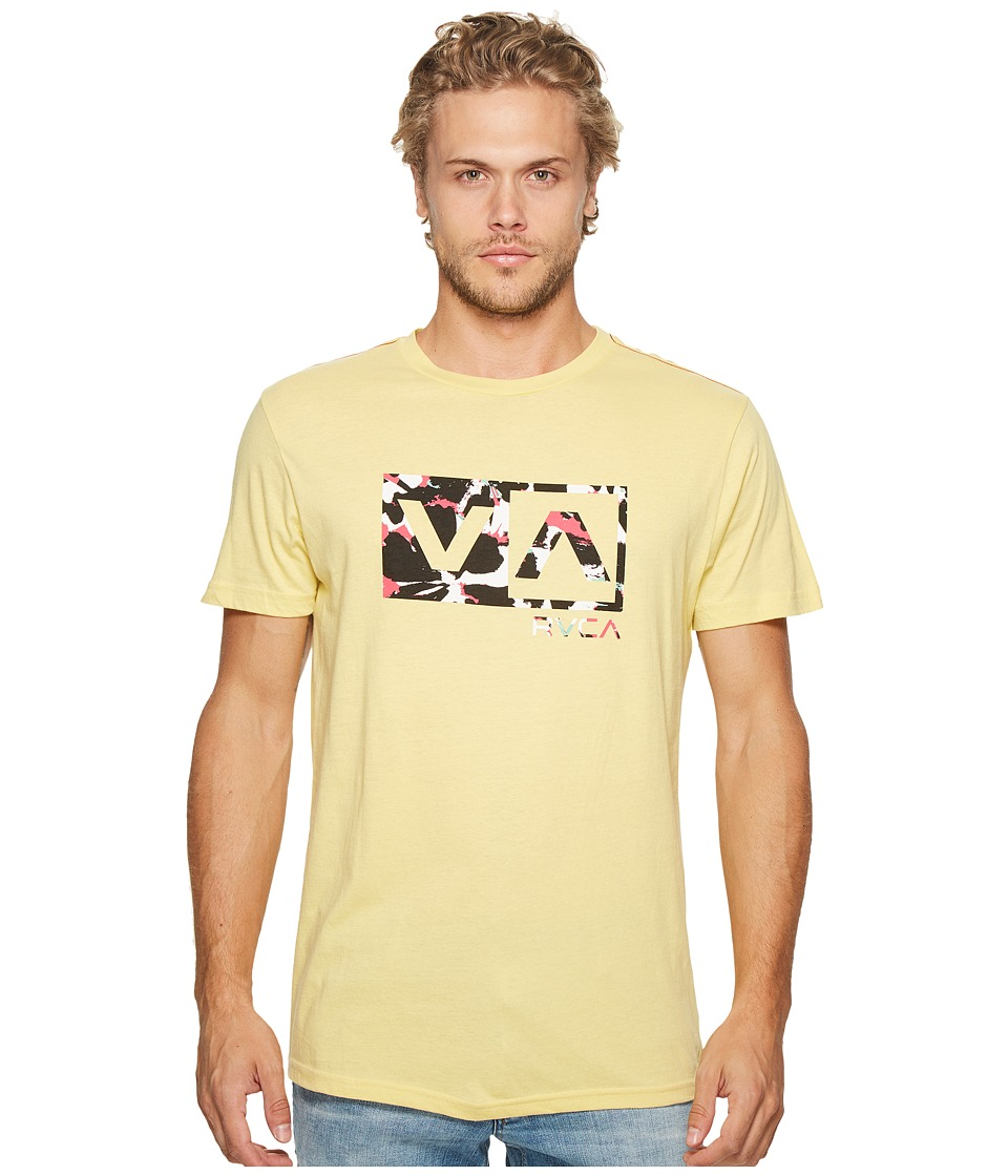RVCA - Southeast Box Tee (Bright Lemon) Men's T Shirt