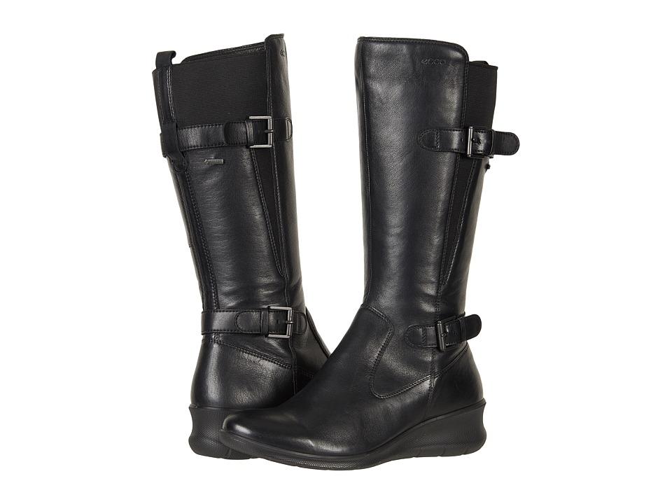 ECCO Babett Wedge GTX Boot (Black Cow Leather) Women