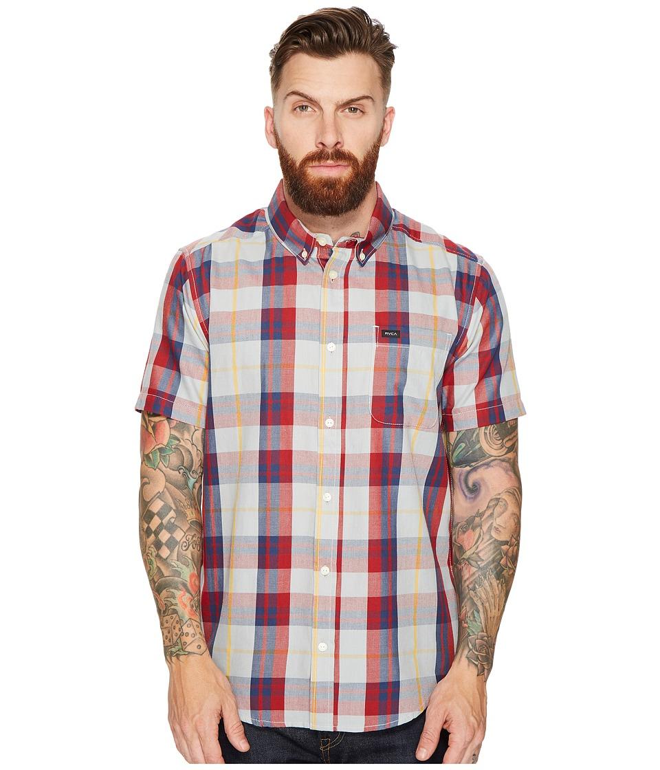 RVCA - Waas II Short Sleeve Woven (Mirage) Men's Clothing