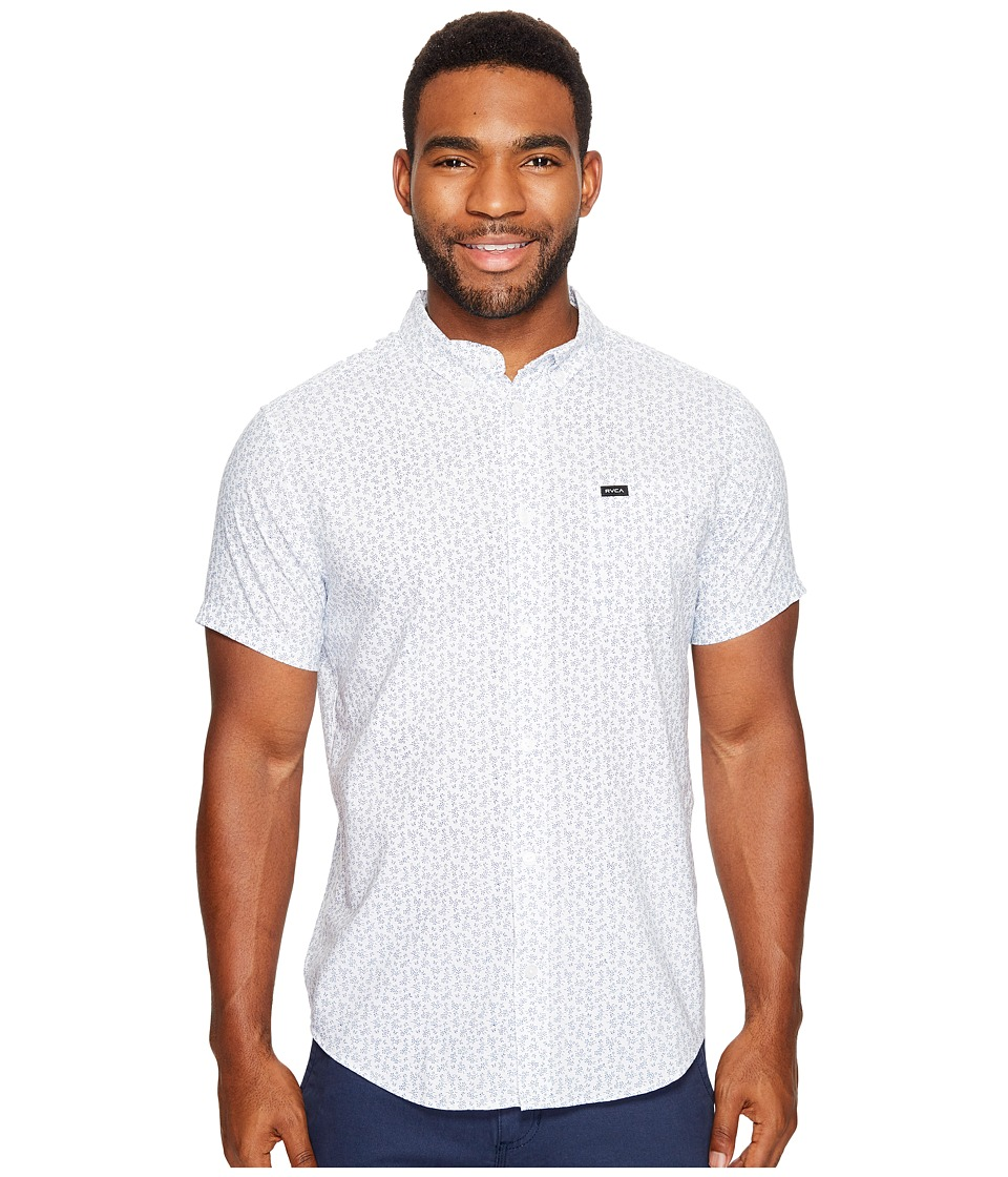 RVCA - That'll Do Floral Short Sleeve Woven (White) Men's Clothing