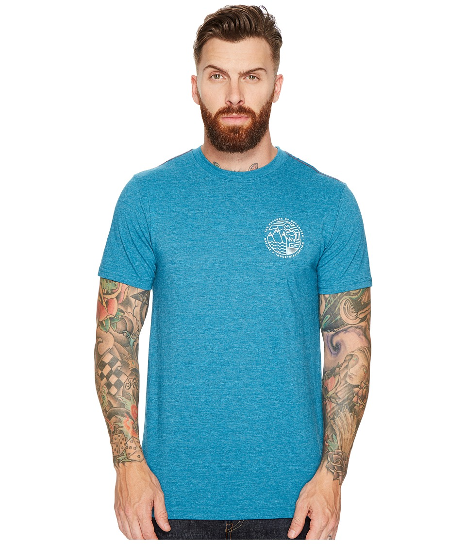 RVCA - United By Nature Tee (Blue Tide) Men's T Shirt